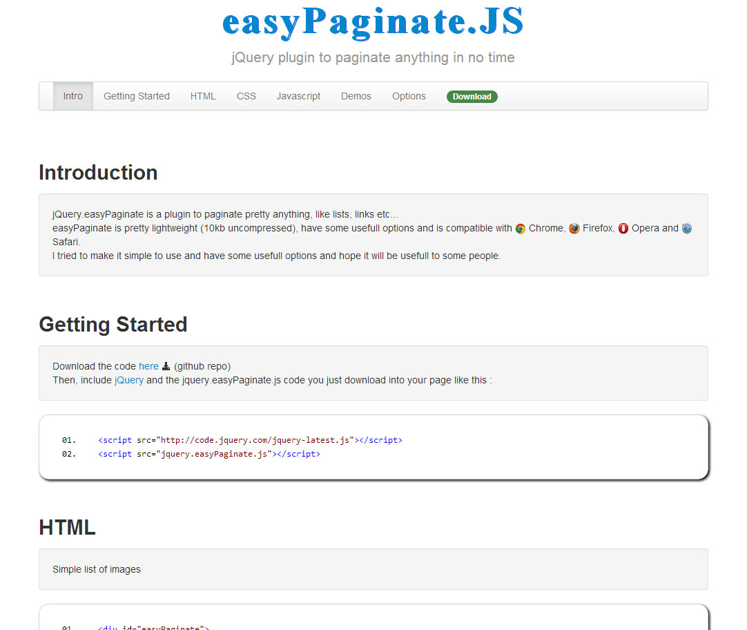 easyPaginate.JS