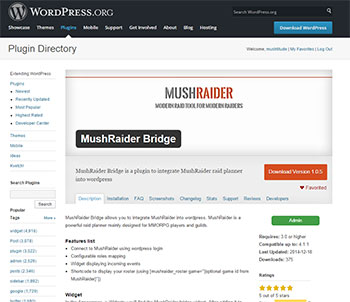 Mushraider Plugin